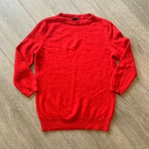 Talbots cashmere sweater red holiday small Petite